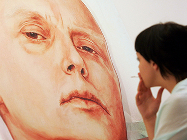 A painting of Alexander Litvinenko. AFP