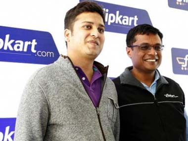 Binny Bansal (left) and Sachin Bansal, co-founders, Flipkart