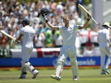 Ben Stokes during his belligerent innings against South Africa on day two. AFP