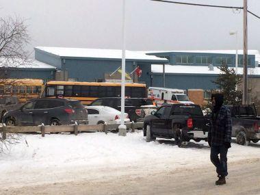 The outside of La Loche Community School. AP