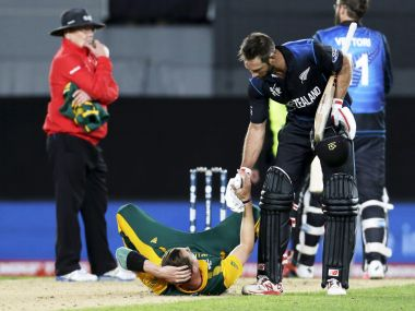 Grant Elliot's gesture to Dale Steyn after the semifinal win was magnificent. Reuters