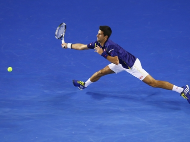 Novak Djokovic at the Australian Open. Getty