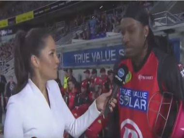 Screengrab from Chris Gayle's interview with Me McLaughlin. YouTube