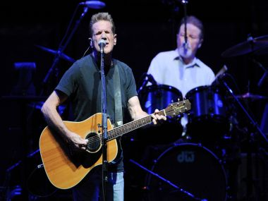 File photo of Glenn Frey, of the Eagles, performing at Madison Square Garden. AP