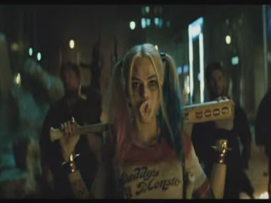 Harley Quinn in the Suicide Squad trailer. Screengrab
