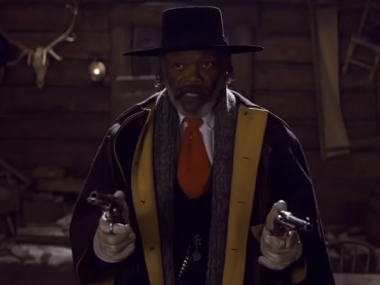 Samuel L Jackson in a scene from The Hateful Eight. Screengrab from YouTube