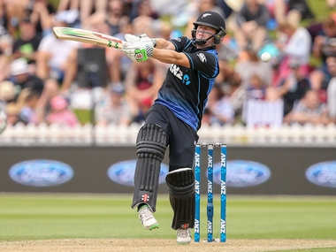 New Zealand's Henry Nicholls in action in the first ODI against Pakistan. Getty