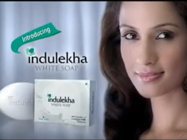 A screengrab from the Indulekha advertisement.