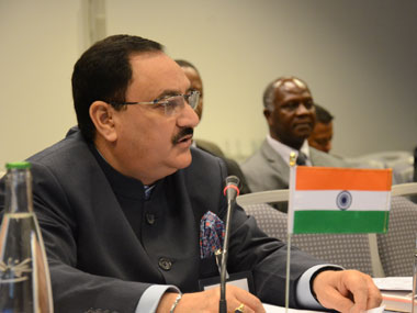 Union health minister JP Nadda. Image courtesy: PIB