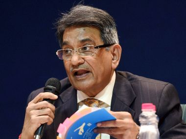 Justice RM Lodha reading out the report with BCCI reforms. PTI
