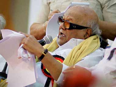 M Karunanidhi. FIle photo. PTI