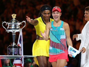 Angelique Kerber stunned Serena Williams in Melbourne. Getty