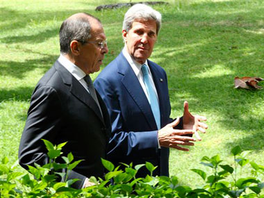 File image of John Kerry and Sergey Lavrov. AP
