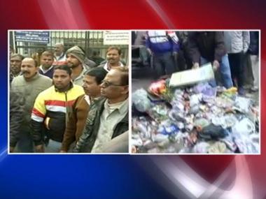 MCD Strike in New Delhi. IBNLive