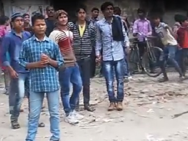 Rioters in Malda captured on camera. Firstpost/Sanjay Pandey