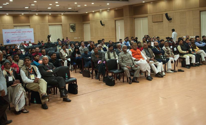 Delegates at the Ram Mandir seminar on Saturday. Firstpost/Naresh Sharma