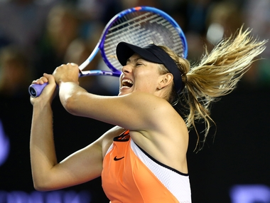 Maria Sharapova in action at the third round of the Australian Open. Getty
