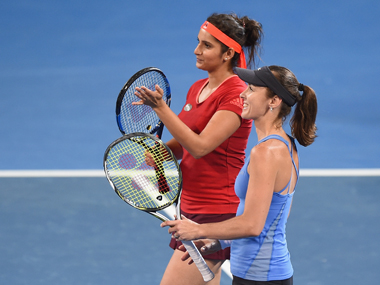 Sania Mirza and Martina Hingis started 2016 with the Brisbane title. Getty Images