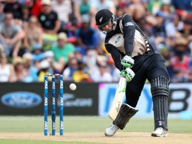 Martin Guptill in action against Sri Lanka. AFP
