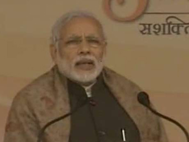 Prime Minister Narendra Modi speaks at Ambedkar University. Ibnlive