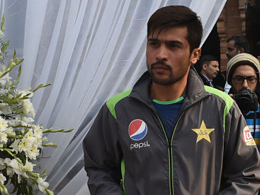 File photo of Mohammad Amir. AFP