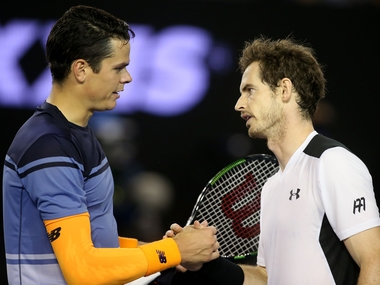 Andy Murray beat Milos Raonic in five sets to set up final clash with Novak Djokovic. Getty