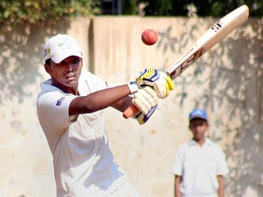 Pranav Dhanavade in action on his way to a world-record 1009. PTI