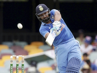 Rohit Sharma hit his second century of the series at Brisbane. PTI