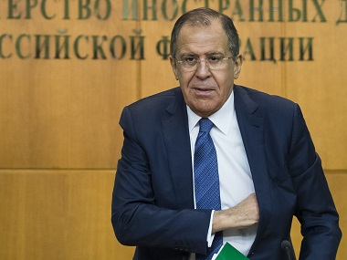 Russian Foreign Minister Sergey Lavrov. AP