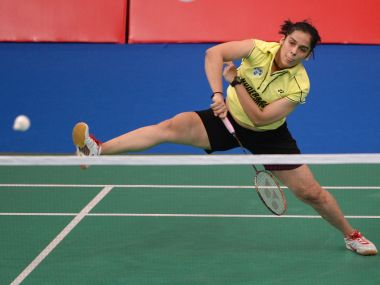 Saina Nehwal in action during the inaugural edition of Indian Badminton League. AFP