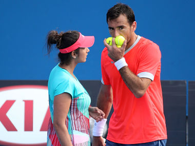 File picture of Sania Mirza (L) and Ivan Dodig. Getty