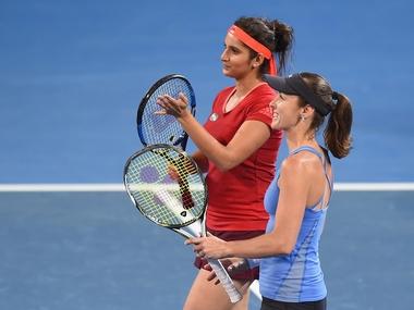 File photo of Sania Mirza and Martina Hingis. Getty Images