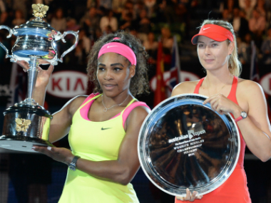 Serena Williams beat Maria Sharapova to the the title in 2015 Australian Open. AFP
