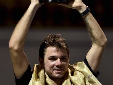 Stan Wawrinka won his third straight Chennai Open title. PTI