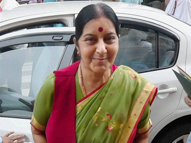 Sushma Swaraj. File photo. PTI