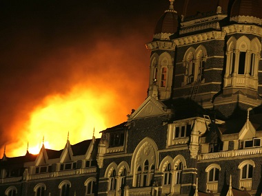 The Taj Hotel during the 26/11 terror attacks. Reuters