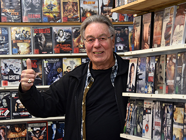 Eckhard Baum owns the oldest video shop in Germany. Uwe Zucchi/DPA
