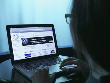 Wikipedia webpage in use on a laptop computer is seen in this photo illustration. Reuters