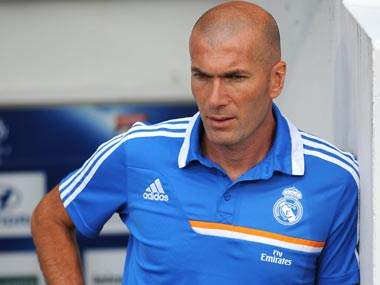 File picture of Zinedine Zidane. Getty