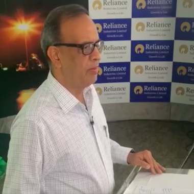 RIL CFO Alok Agarwal during the Facebook live stream of third quarter results/ Screenshot from RIL Facebook page