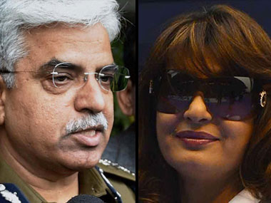 Delhi police chief BS Bassi and Sunanda Pushkar. Reuters