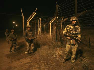 BSF personnel gurading the International Border with Pakistan. Reuters