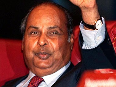Founder of Reliance Industries Limited Dhirubhai Ambani in a file phote. AFP