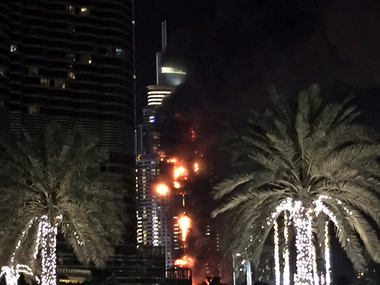 Fire near the world's tallest building in Dubai/ AP