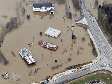 An aerial shot of Missouri as the Midwest reels / Reuters