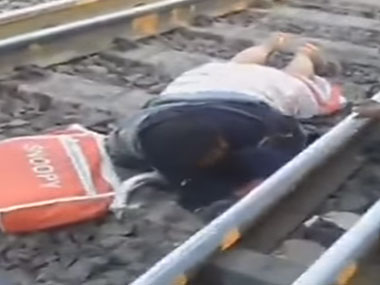 The woman who survived in the incident. Image courtesy: ibnlive