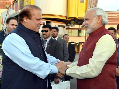 Prime Minister Narendra Modi and his Pakistani counterpart Nawaz Sharif. AFP