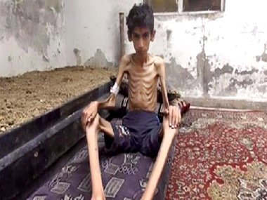 This undated photo posted on the Local Revolutionary Council in Madaya. AP