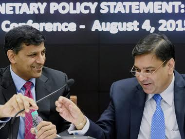 Urjit Patel (left) and Raghuram Rajan. PTI