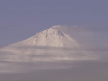 Scientists captured footage of the volcano 'Big Ben' erupting, Screenshot from YouTube video.